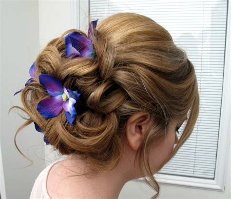 wedding hair accessories blue wedding hair accessories blue purple dendrobium orchid bobby