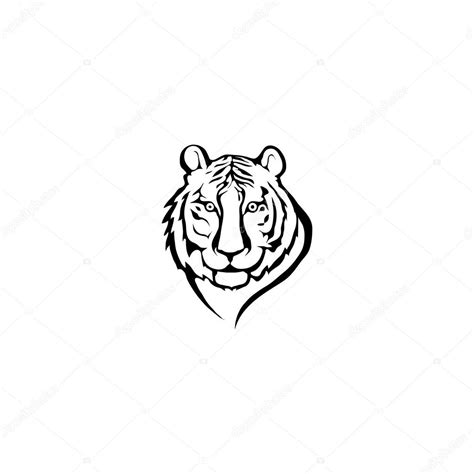 logo black and white vector black and white tiger logo stock vector 169 korniakovstock