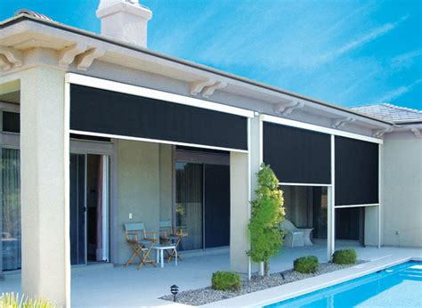 outdoor shades for patio roll up crunchymustard