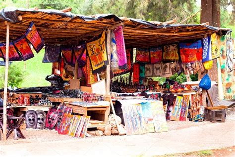 Handmade In Africa - traditional market with handmade souvenirs in