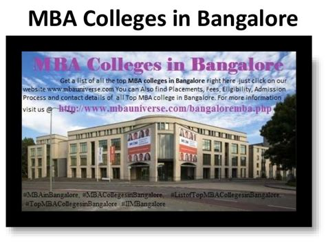 Mba Marketing And Finance In Bangalore by Mba Colleges In Bangalore