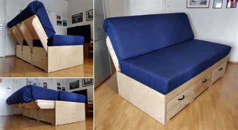 diy convertible sofa bed  storage