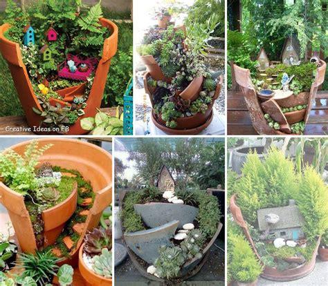Broken Pot Garden by Broken Pot Garden Home For A Gnome The Garden Diaries