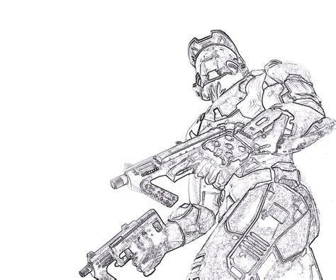 halo 4 master chief coloring pages coloring pages