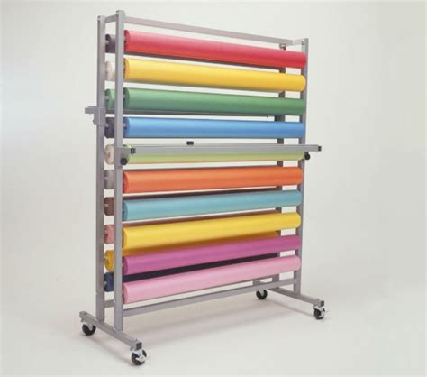 paper rack 20 roll horizontal rack paper cutter bulman products