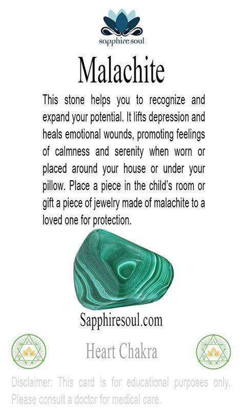 malachite  excellent protection stone
