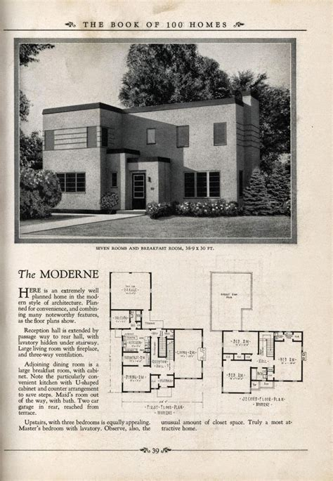 artistic house plans art deco house plans art deco resource blue prints from the past pinterest