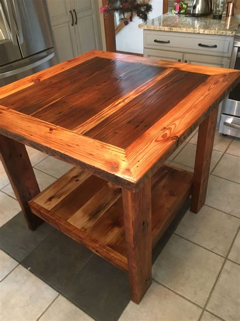 custom made kitchen islands custom barn wood kitchen island by barn wood studio
