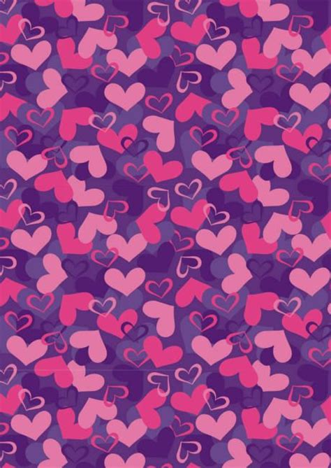 valentines paper valentines day scrapbook paper purple and pink hearts