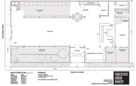 winery floor plans floor plan layout vancouver urban winery places i