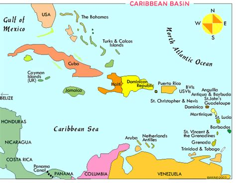 map of caribbean with country names pink lovey welcome to grenada