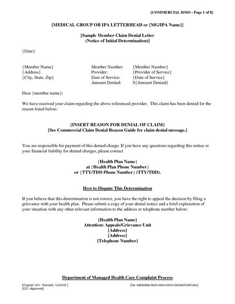 Insurance Claim Rejection Letter Format Claim Page 257 Lawyer S Information Portal