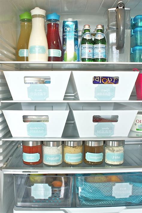 Refrigerator Shelf Labels by Top 10 Tips To Organize Your Fridge Top Inspired