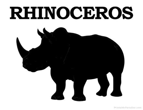 printable zoo animal silhouettes 39 best images about rhino on pinterest giraffe art