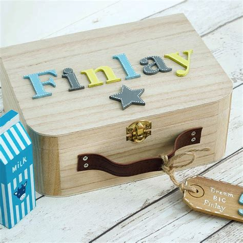 baby memory box keepsake box children s suitcase style