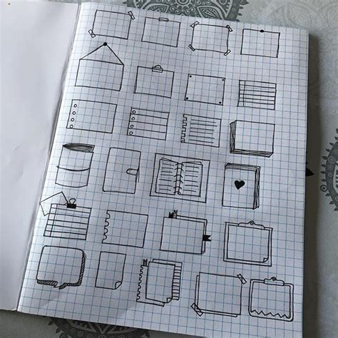 doodle drawing boxes 14 best images about bullet journal on
