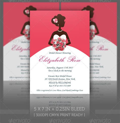 printable bridal shower invitation templates 30 best bridal shower invitation templates sle templates