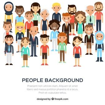 design art group people cartoon characters vector free download