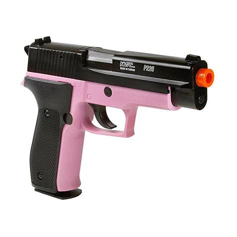 Mainan Pistol Kokang P 328 sig sauer licensed p226 powered airsoft pistol black pink fps 328