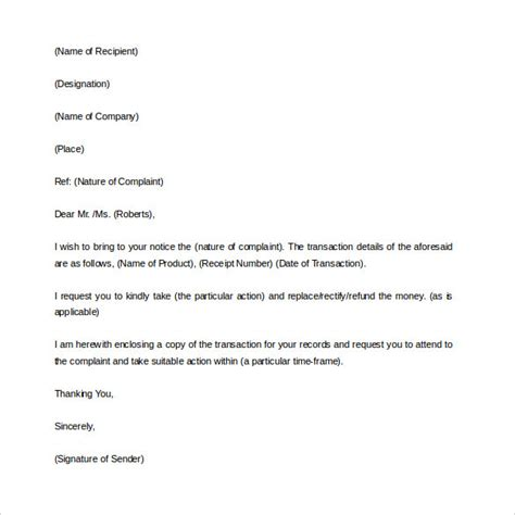 Complaint Letter Beginning Complaint Letter 16 Free Documents In Word Pdf