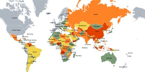 map of the world to show where you been map of world s most corrupt countries business insider