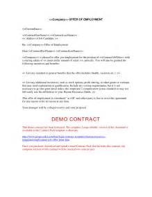 Contract To Hire Offer Letter Format Employment Offer Letter Free Printable Documents