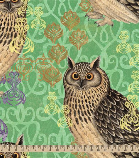 Owl Quilting Fabric by Premium Quilt Fabric Susan Winget Hoot Owl Jo