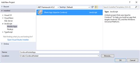 cordova tutorial android visual studio run your hosted web app in an apache cordova app
