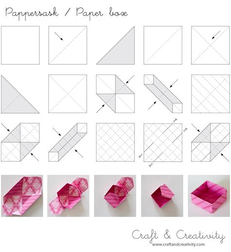 Origami Paper Container - dagens pyssel pappersaskar craft of the day paper