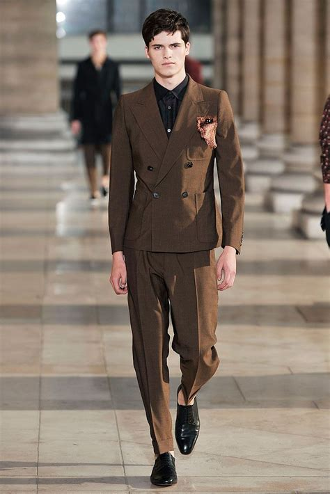 Menswear Chic At Dries Noten Gets A Twist By Wearing The Necktie Like A Harness Its A Snap To Capture The Spirit Without Breaking The Bank Fashiontribes Fashion by Dries Noten 2010 Menswear Collection