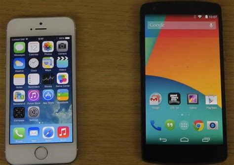 android vs iphone review nexus 5 android 4 4 kitkat vs iphone 5s with ios 7 1 product reviews net