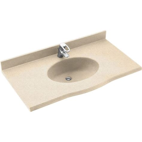 Swanstone Vanity Tops by Swanstone Europa 43 In Solid Surface Vanity Top With