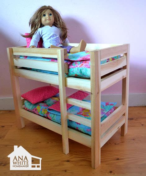 ana white doll bunk beds  american girl doll   doll diy projects