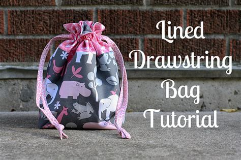pattern lined drawstring bag cincinnati modern quilt guild inspiration bag swap and