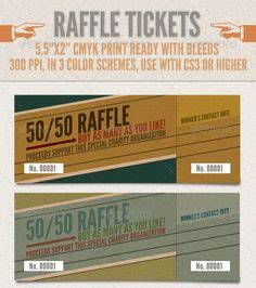 western style 50 50 raffle ticket template ticket