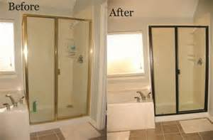 shower door trim replacement change out your builder grade brass shower trim using