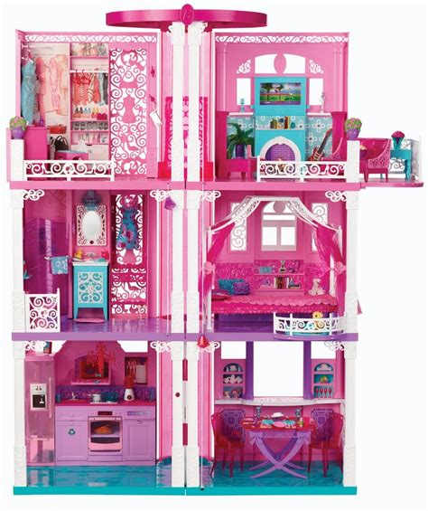 barbie dreamhouse barbie 3 story dream house townhouse with elevator new ebay