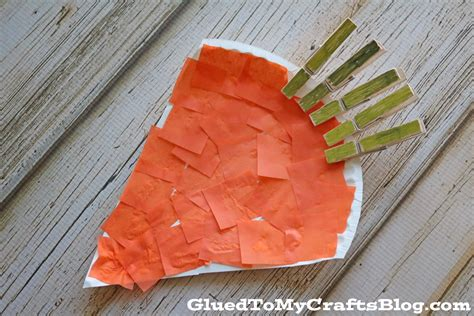 carrot craft for clothespin paper plate carrot kid craft glued to my crafts