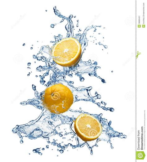orange fruit and water splash stock photo image 38880451