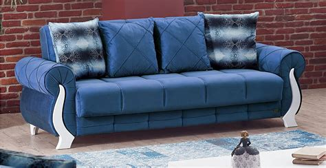 furniture upholstery montreal montreal blue fabric sofa bed by empire furniture usa