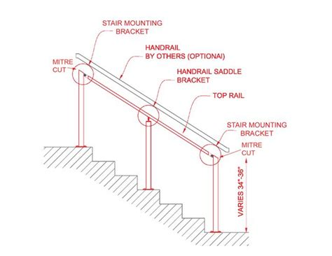 banister post tops stair rail for post to post deck railing on an angle