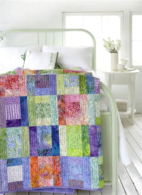 free pattern batik quilt free pattern splashes of color batik quilt