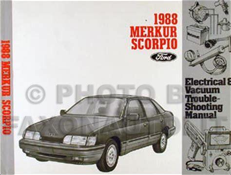 Karet Vakum Vacum Scorpio Original 1988 Merkur Scorpio Electrical And Vacuum Troubleshooting