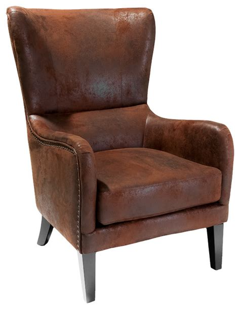 wingback armchair clarkson wingback armchair rustic armchairs and accent chairs by gdfstudio