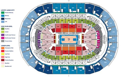 Prudential Center Floor Plan by Seating Chart Oklahoma City Thunder