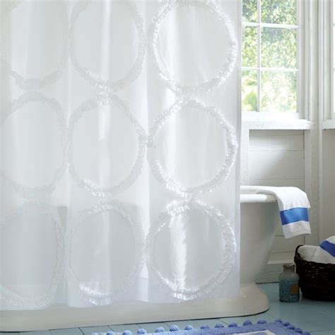 pottery barn teen drapes ruffle rings shower curtain shower curtains other