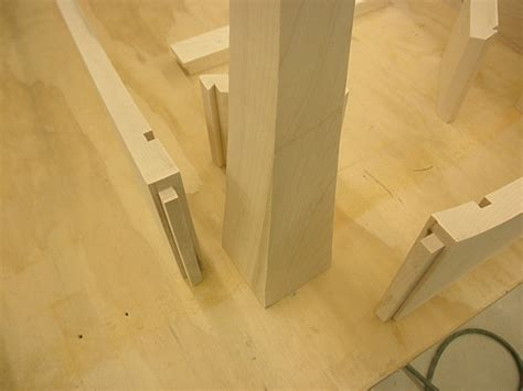 attaching table apron  legs woodworking talk
