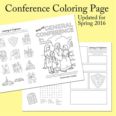 coloring pages packet pdf 2016 spring general conference printables the mormon home