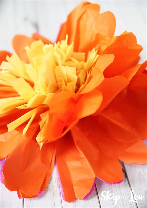 how to make tissue paper flowers skip to my lou