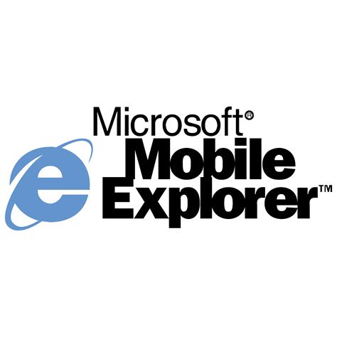 microsoft mobile software explorer logos